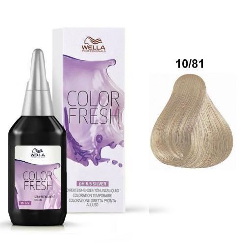 Wella Color Fresh 1081 Biondo Platino Perla Cenere Silver 75 Ml