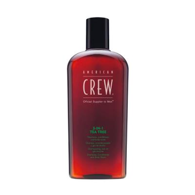 American Crew 3 in 1 100ml Tea Tree Shampoo Conditioner e Body Wash